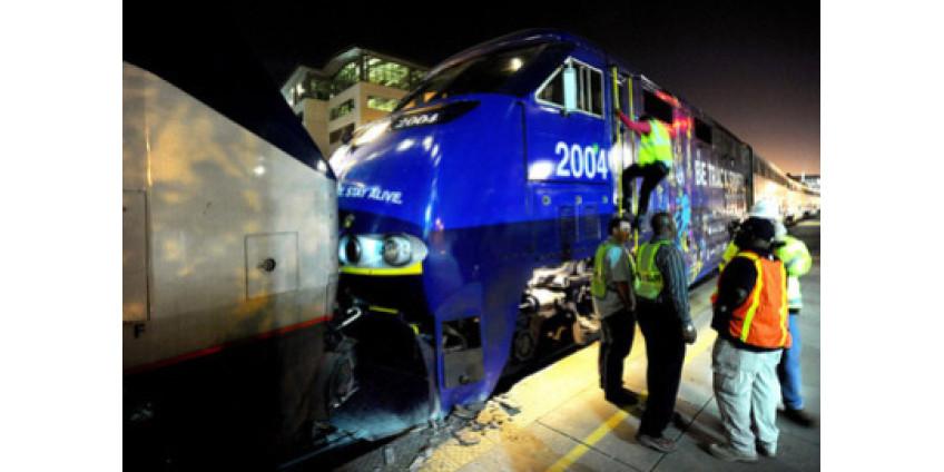 На Западе США произошло столкновение поездов
