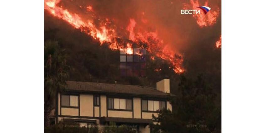 В Калифорнии снова разбушевались пожары