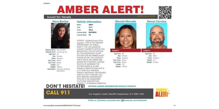 Полиция Калифорнии разыскивает пропавшую девочку-подростка