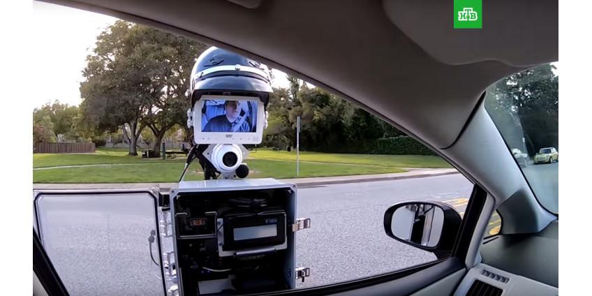 В Калифорнии в ближашее время появится робот-полицейский в каске