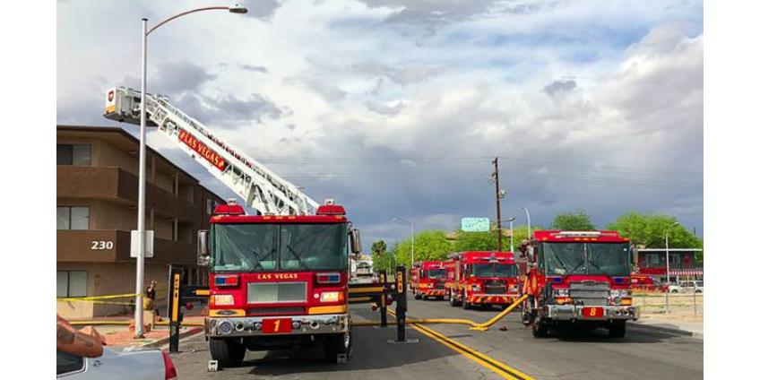 Пожар в центре Лас-Вегаса: пострадавших нет