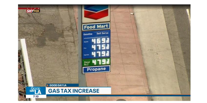 С 1 июля  налог на бензин в Калифорнии вырос до 50.5 центов за галон