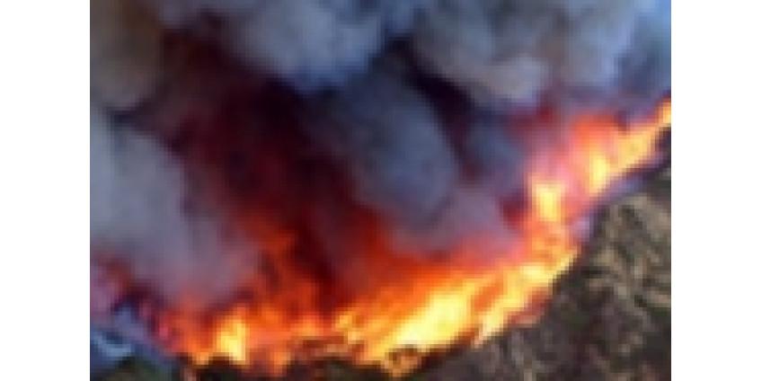 В Калифорнии опять возгорание