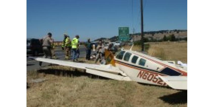 Одномоторный самолет разбился в Калифорнии