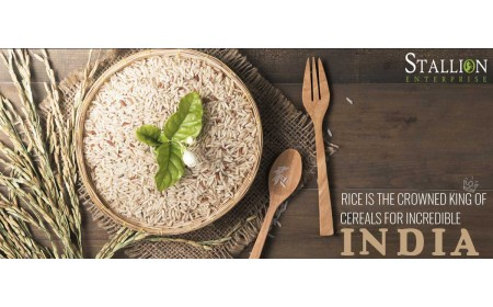 RICE IS THE CROWNED KING OF CEREALS FOR INCREDIBLE INDIA
