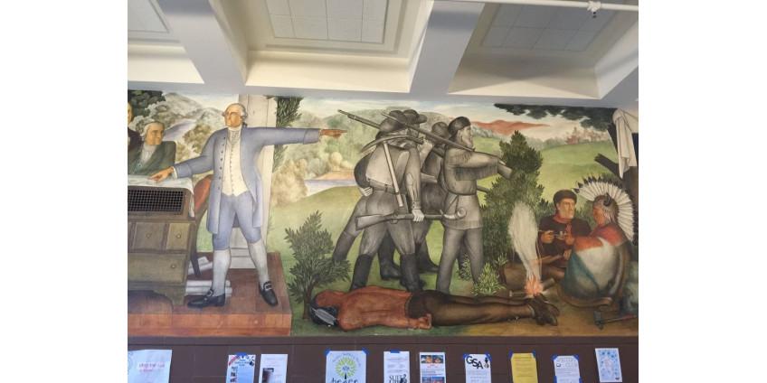 Сан-Франциско потратит до 600 000 долларов на закрашивание росписи жизни Джорджа Вашингтона
