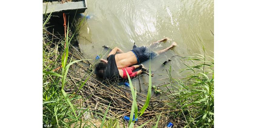 Ценой жизни: при попытке нелегально пересечь границу США утонули отец с ребёнком.