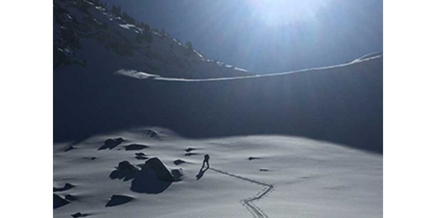 Снег в горах Калифорнии побил рекорды