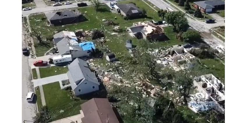 По Среднему Западу США прошелся разрушительный торнадо, есть жертвы