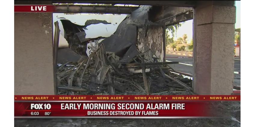 В торговом центре в West Valley вспыхнул пожар