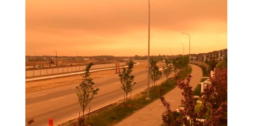 Дым лесных пожаров заволок крупные города в Канаде и смещается в США