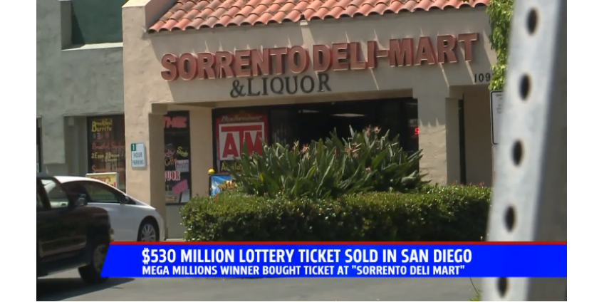 В Сан-Диего был продан лотерейный билет с выигрышем в $530 млн