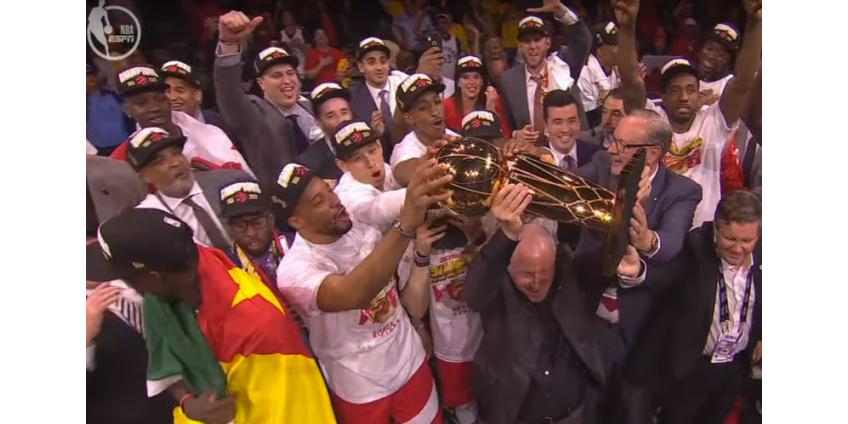 """Канадский клуб """"Торонто Рэпторс"""" впервые стал чемпионом НБА"""