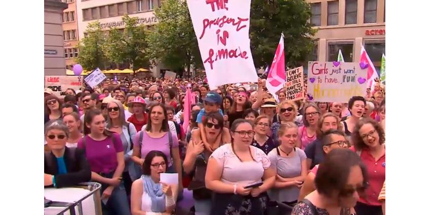 В Швейцарии десятки тысяч женщин не вышли на работу, протестуя против неравенства