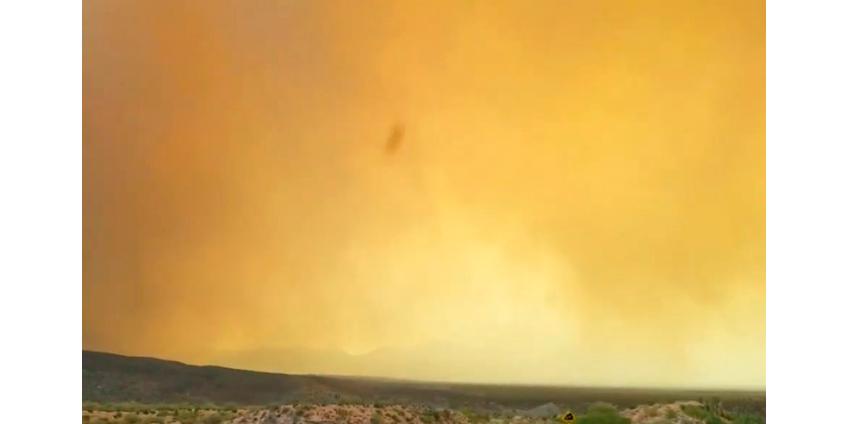 Непогода в США: сильный шторм, наводнения, огромный град и природные пожары