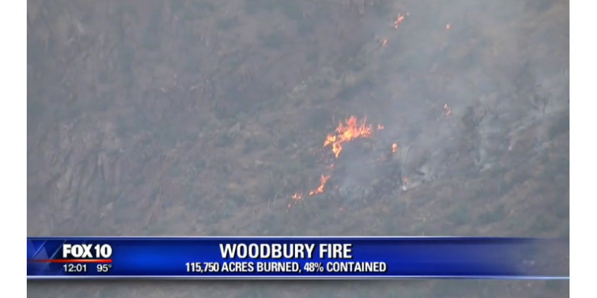Огонь в Аризоне охватывает порядка 120 000 акров