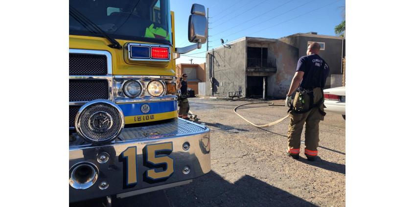 Пожар повредил пустой жилой дом в центре Лас-Вегаса