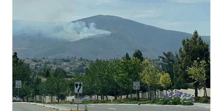 К востоку от Чула-Виста вспыхнул ландшафтный пожар