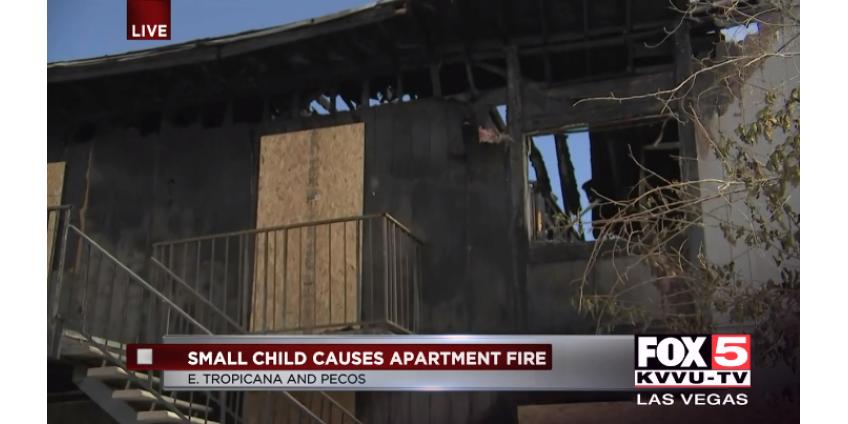 46 жителей Лас-Вегаса были эвакуированы после того, как ребенок устроил пожар в квартире
