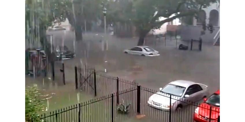 """Тропический шторм """"Барри"""" надвигается на юг США и уже устроил потоп в Новом Орлеане"""