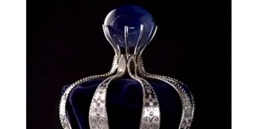 На Шри-Ланке выставили на продажу уникальный голубой звездчатый сапфир в 332 карата за 2,5 млн долларов
