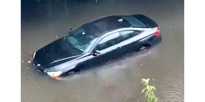Непогода в США: потоп в Балтиморе, град с бейсбольный мяч в Миннесоте, взрыв унитаза из-за молнии во Флориде