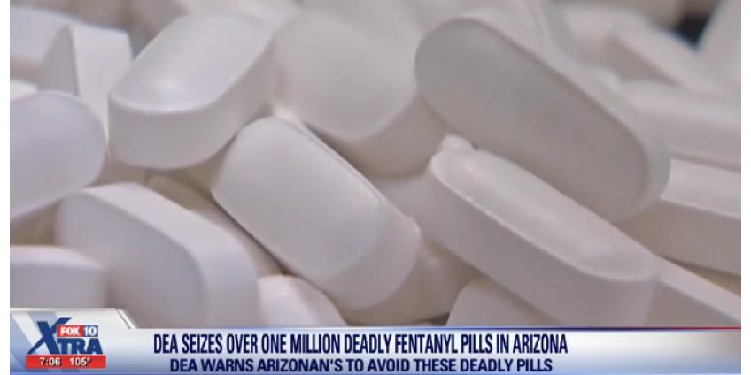 Аризоне изъято более 1 миллиона таблеток фентанила