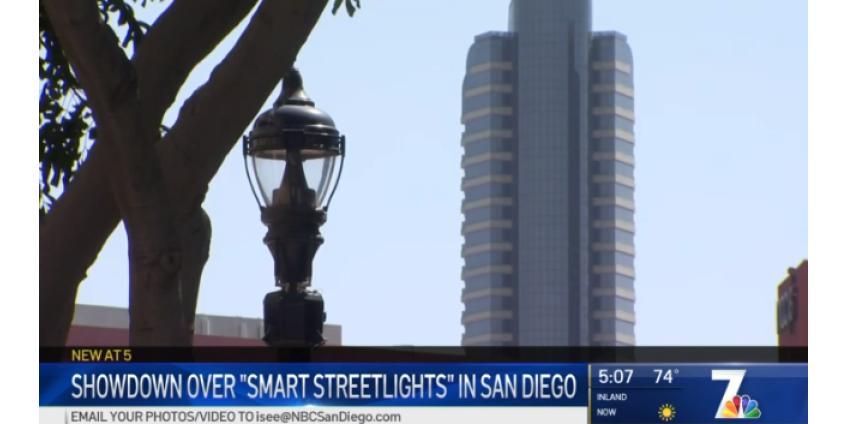 Общественники призывают остановить программу умных уличных фонарей в Сан-Диего