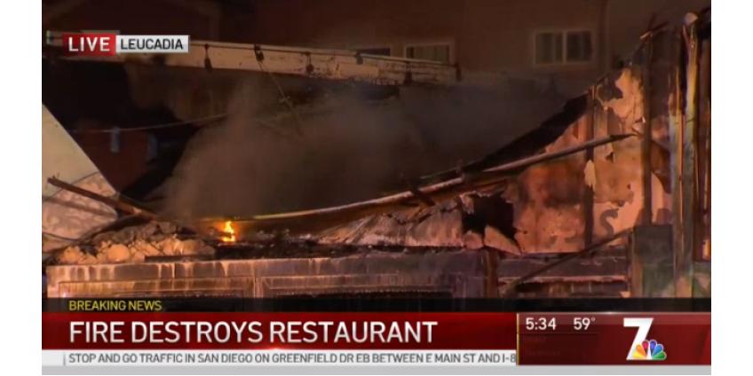 В округе Сан-Диего несколько часов тушили бушующий пожар