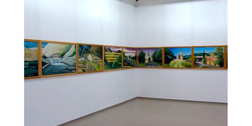 """Немецкий художник дописывает самую длинную картину в мире под названием """"Картина мира"""""""