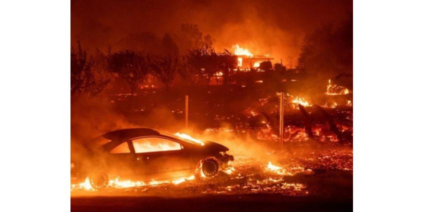 Из-за масштабного пожара в Калифорнии эвакуируют порядка ста тысяч человек