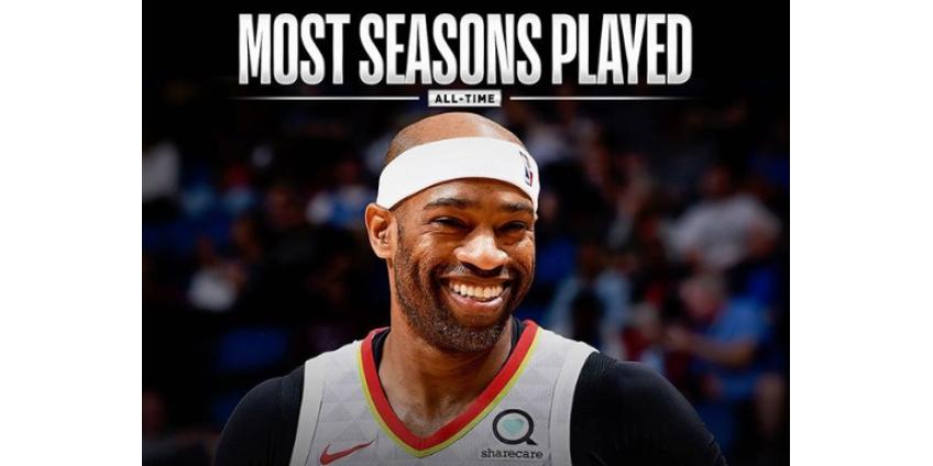 Винс Картер установил абсолютный рекорд НБА по числу проведенных в лиге сезонов