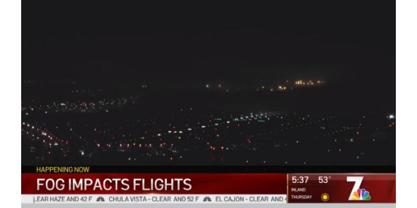 Плотный туман вызвал десятки задержек международных рейсов в Сан-Диего