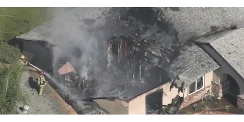 Крушение самолета на юге Калифорнии: пилот погиб, в жилой дом разрушен