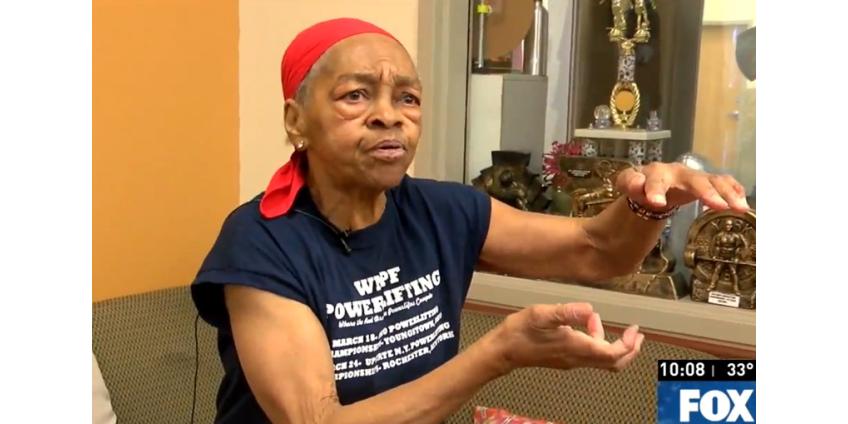 82-летняя бодибилдерша сломала стол о голову грабителя и сдала его полиции