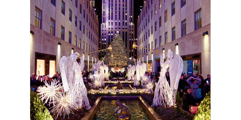 Нью-Йорк закроет улицы возле Рождественской елки в Рокфеллер-центре во время праздников