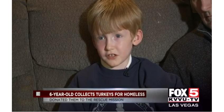 6-летний мальчик из Лас-Вегаса подготовил более 600 фунтов индейки для благотворительных целей