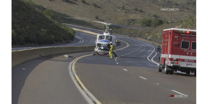 Раненых в результате ДТП в Сан-Диего спасли с помощью вертолета
