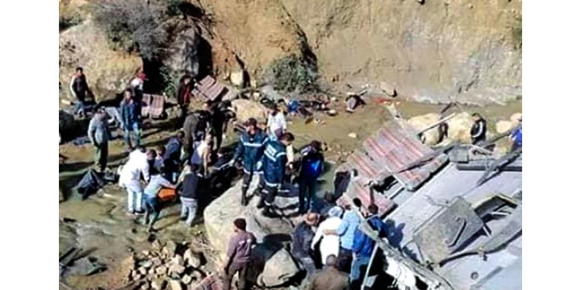 23 человека погибли в ДТП с туристическим автобусом в Тунисе