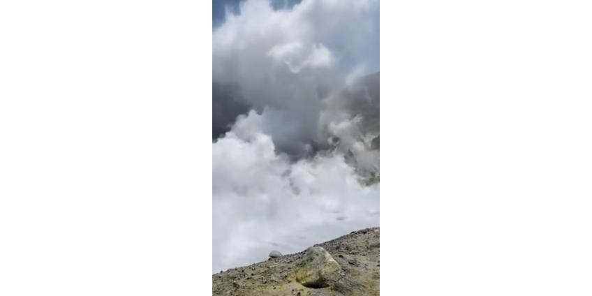 Внезапное извержение вулкана на новозеландском острове накрыло туристов: 5 погибших