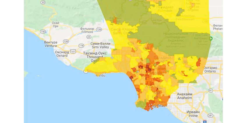 Число аварий с участием пешеходов в Лос-Анджелесе возросло