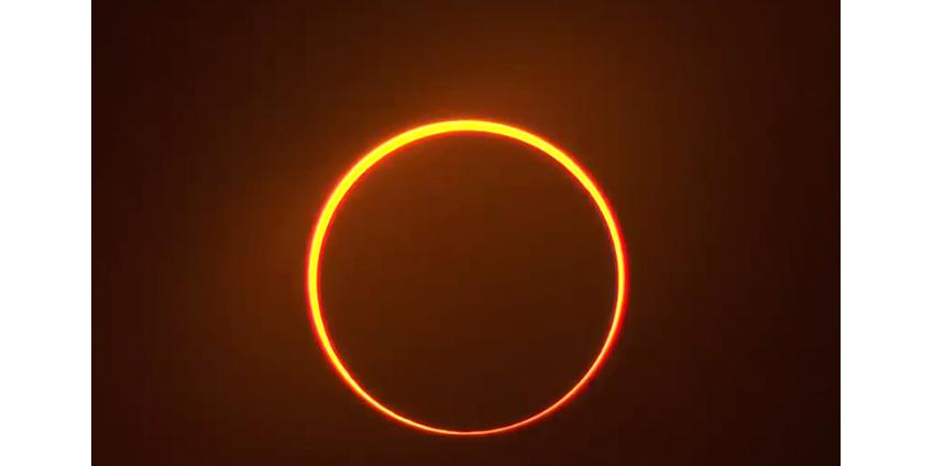 В Азии и на Ближнем Востоке наблюдали кольцеобразное затмение Солнца
