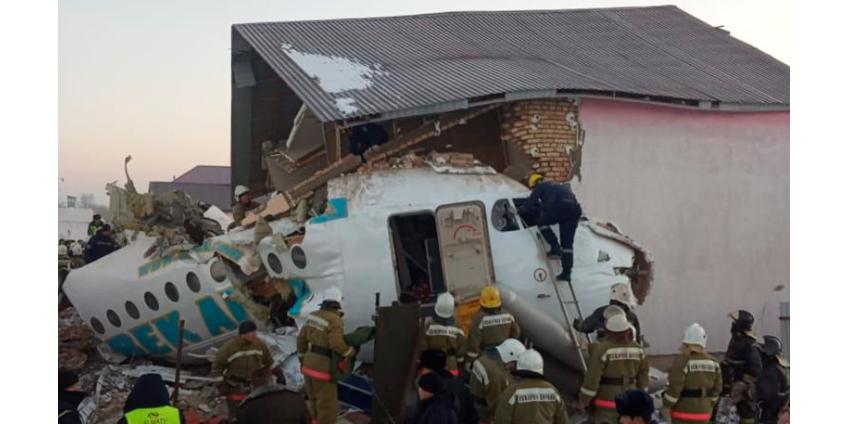В Алма-Ате авиалайнер рухнул на жилой сектор, погибли 12 человек
