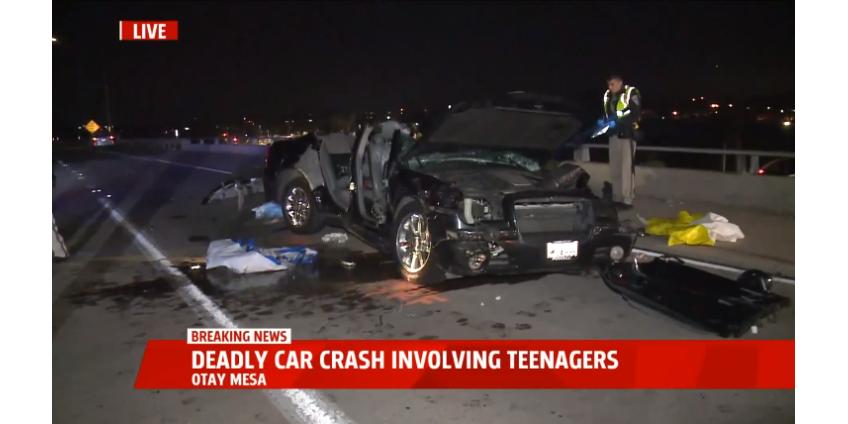 1 подросток погиб, 5 получили ранения в результате аварии на автостраде в Сан-Диего