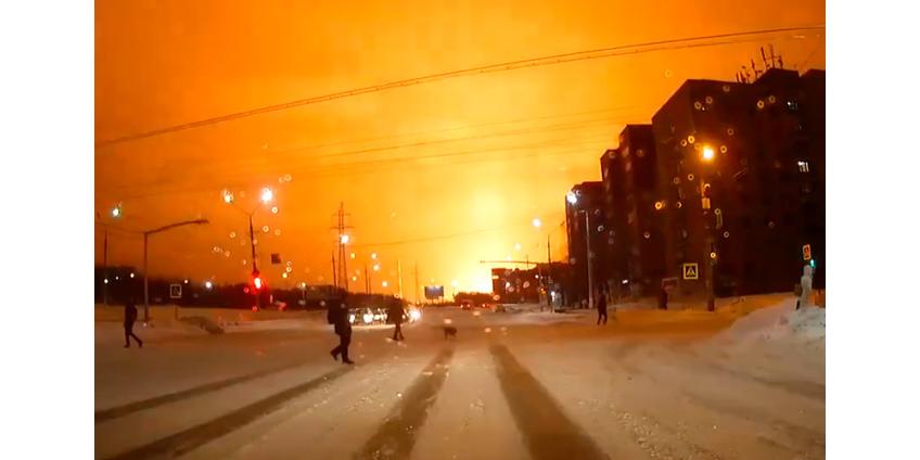 В Ухте загорелся нефтеперерабатывающий завод, из-за взрывов проведена эвакуация