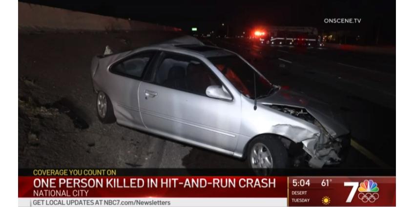 В Нешнл-Сити в округе Сан-Диего крупная авария вызвала затор на трассе