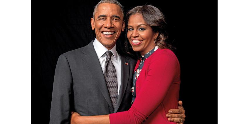 Официальные портреты Барака и Мишель Обамы провезут по всей Америке
