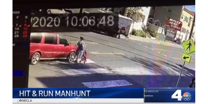 Полиция разыскивает водителя минивэна, который сбил женщину в Голливуде