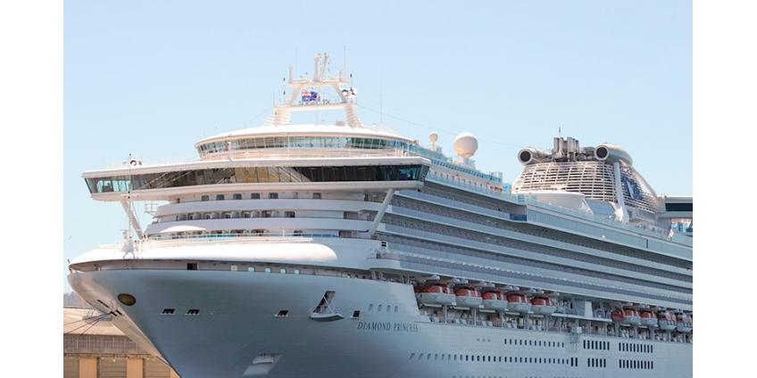 На судне Diamond Princess коронавирус выявлен у 355 человек