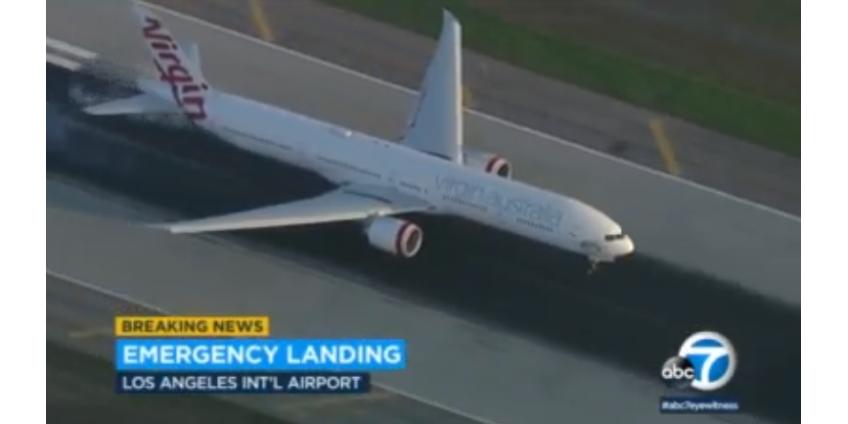 В аэропорту Лос-Анджелеса экстренно приземлился вертолет из-за проблем с гидравликой
